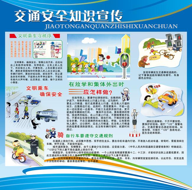校园交通安全知识宣传展板板