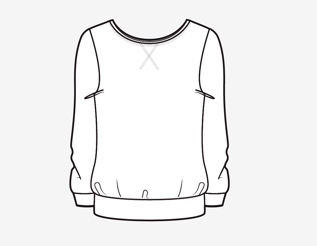 服装设计15款手绘上衣款式ai格式