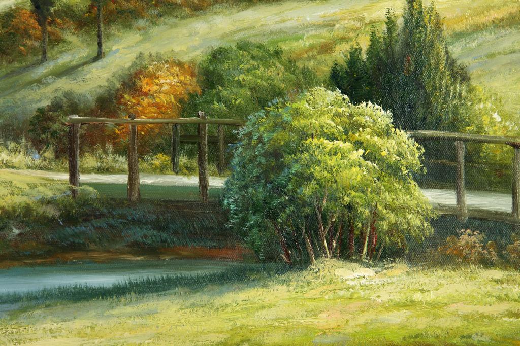 画布图片下载油画油画框油画风景油画背景油画图片