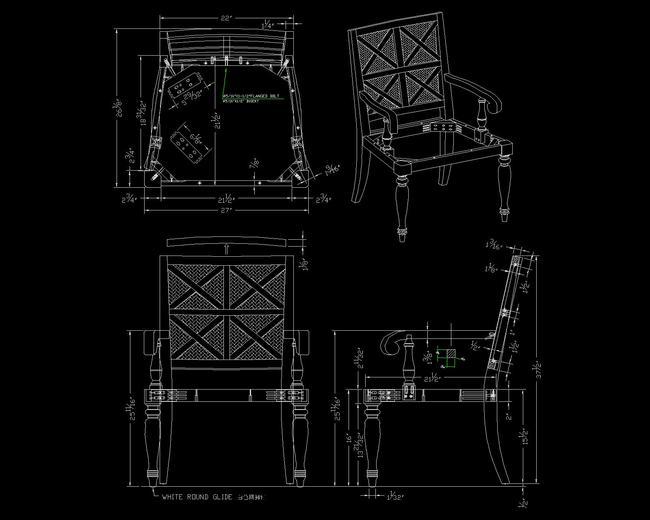 室内设计 cad图库 家具cad图纸 > 欧式餐椅cad设计  下一张&gt