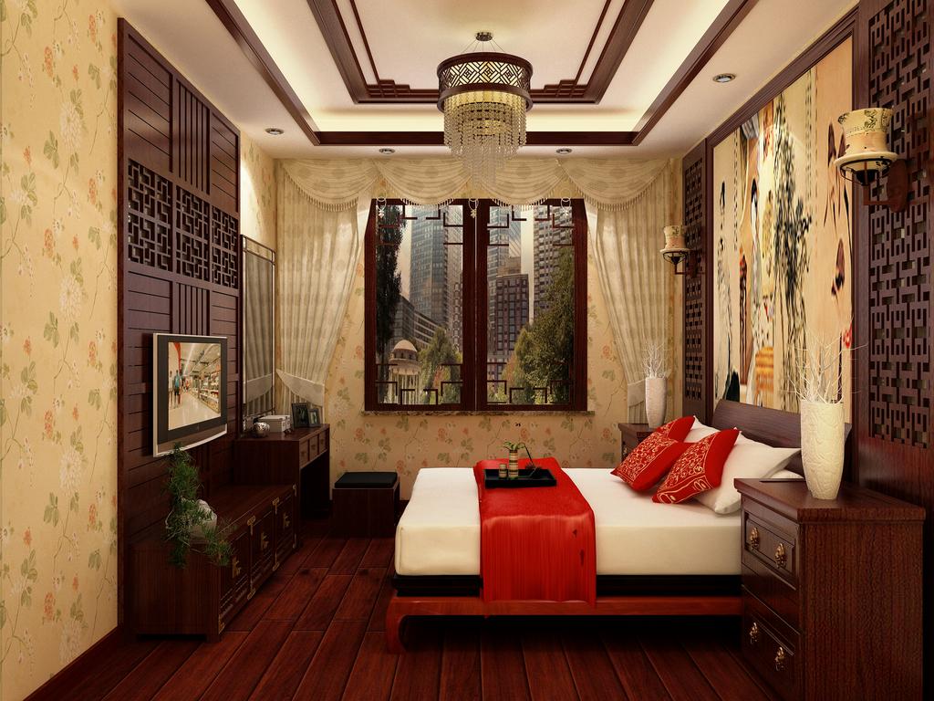 中式别墅室内手绘