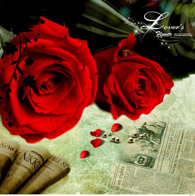 玫瑰花冰晶画水晶画立体画