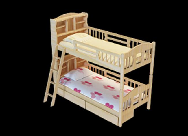 儿童床上下双层床带梯子3dmax模型