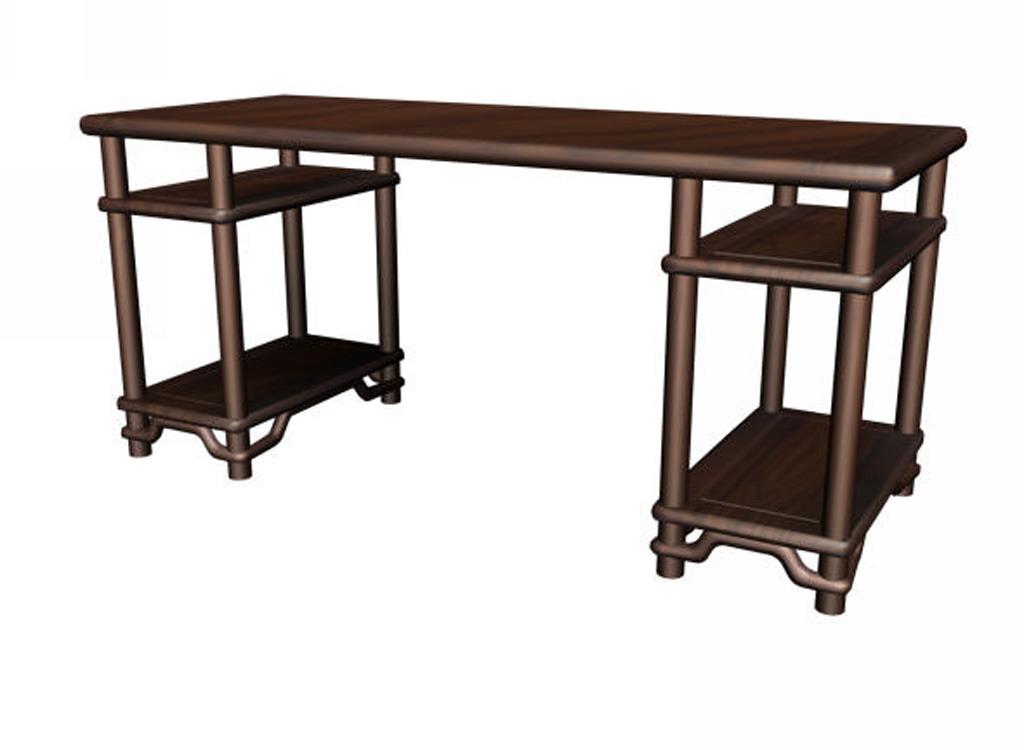 办公桌单体手绘