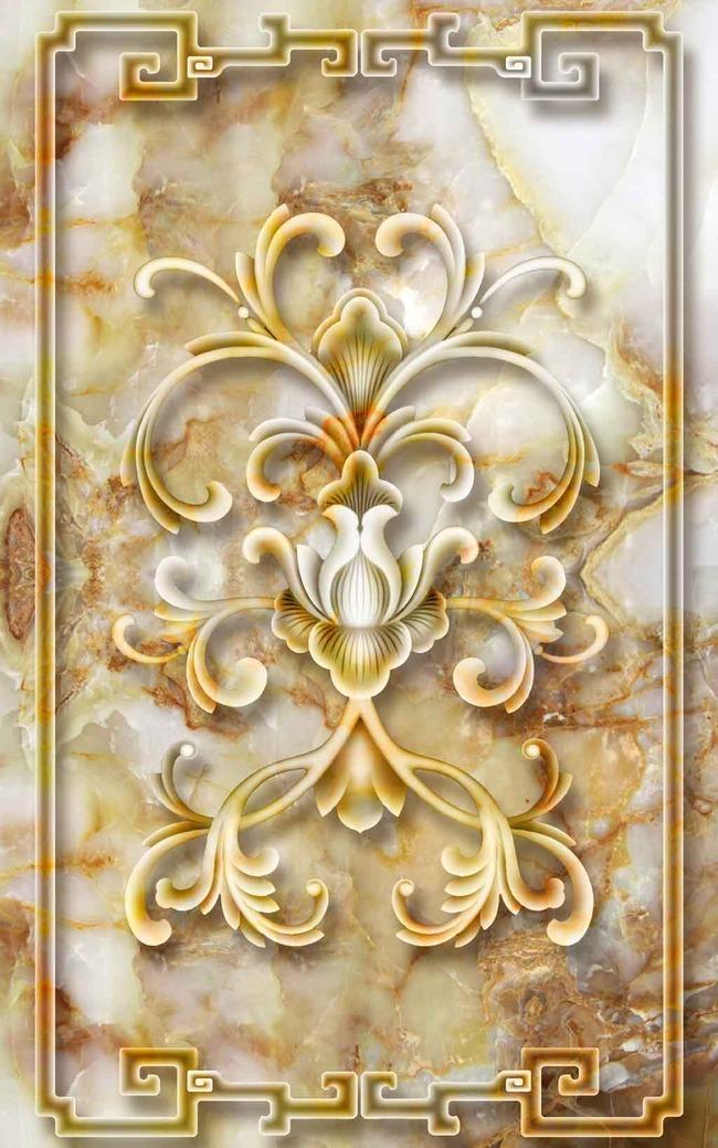 欧式浮雕玄关背景墙装饰画