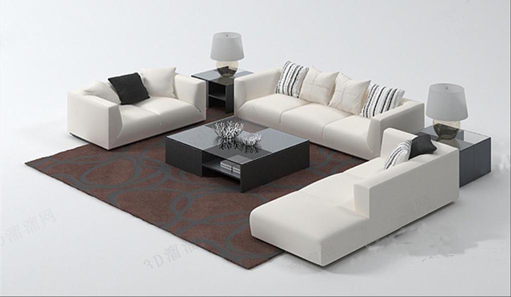 3d模型 室内设计3d模型 单体模型 > 现代简约沙发茶几台灯组合3dmax模