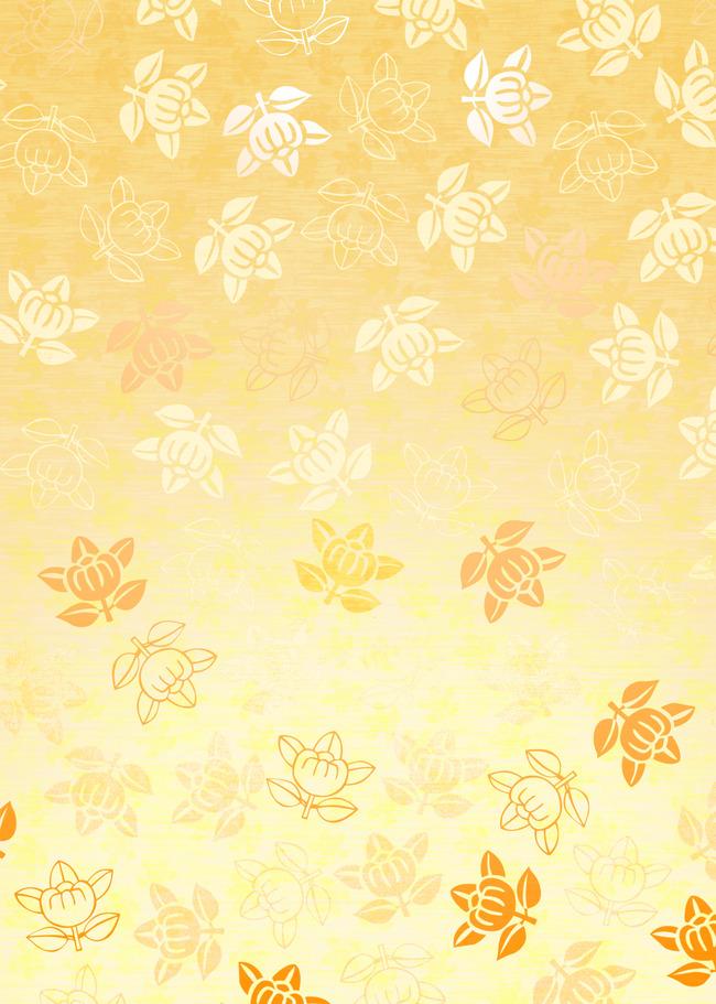 黄色卡通花朵底纹背景