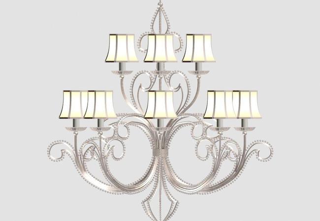 欧式吊灯 欧式水晶灯 室内模型