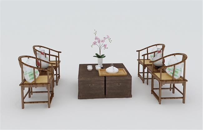 3d模型 室内设计3d模型 单体模型 > 中式桌椅3d模型下载  下一张&nbsp