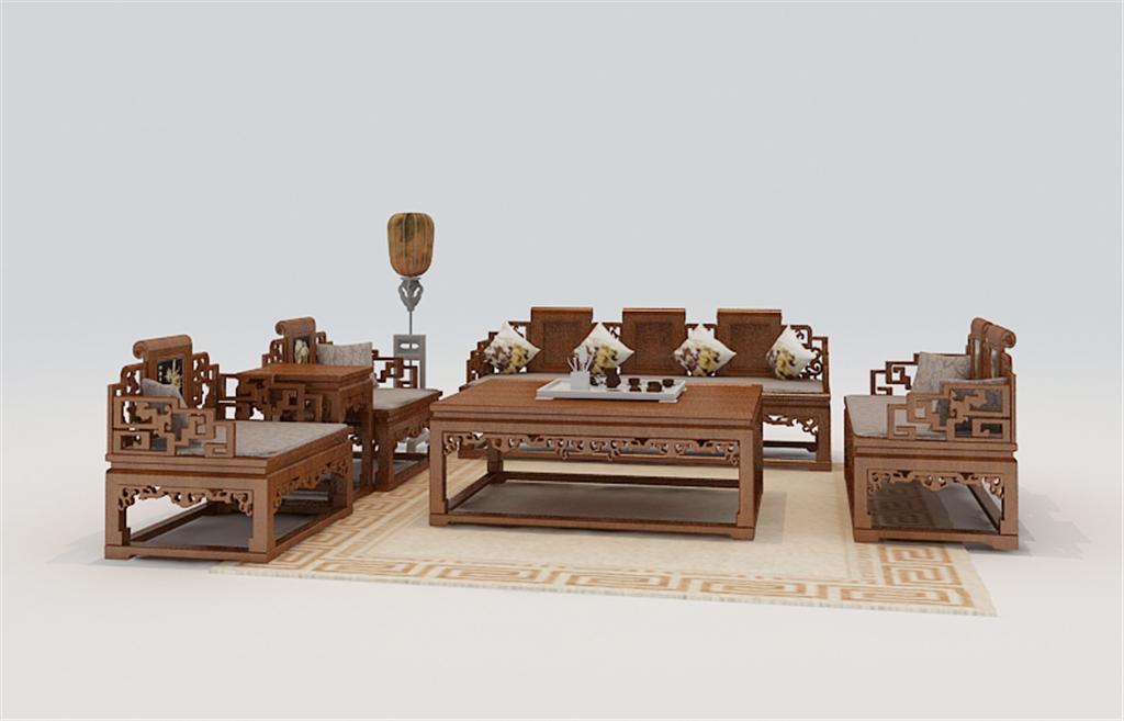 中式室内手绘单体