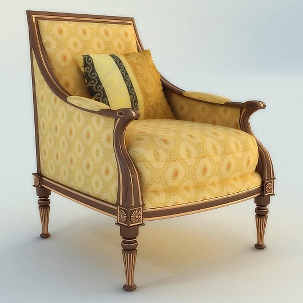 手绘单体椅子沙发图片