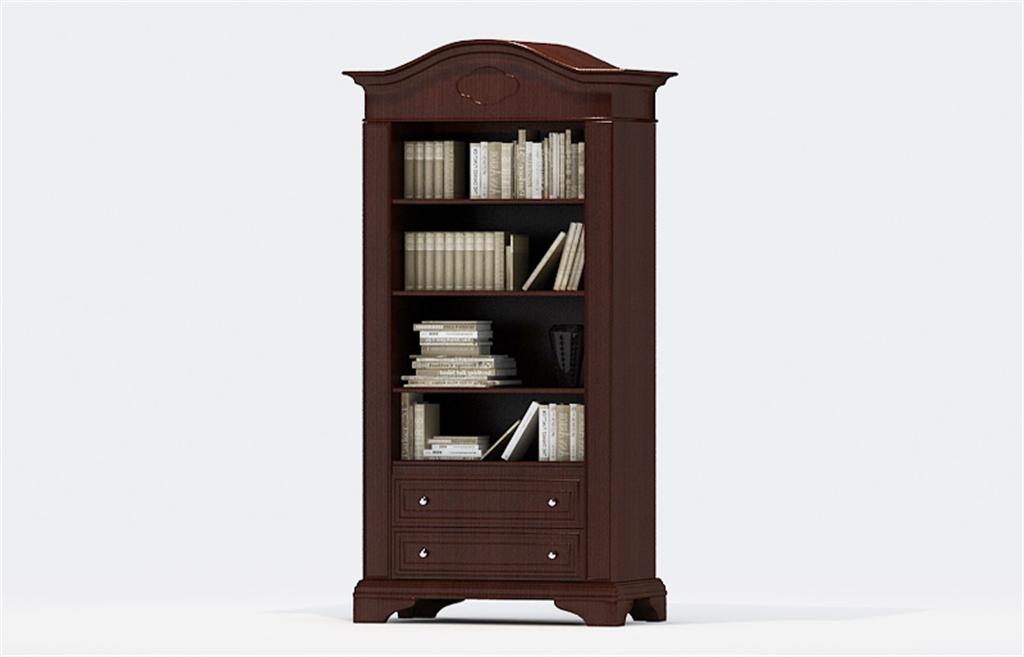 书柜3d模型及效果图下载欧式小书柜3d模型