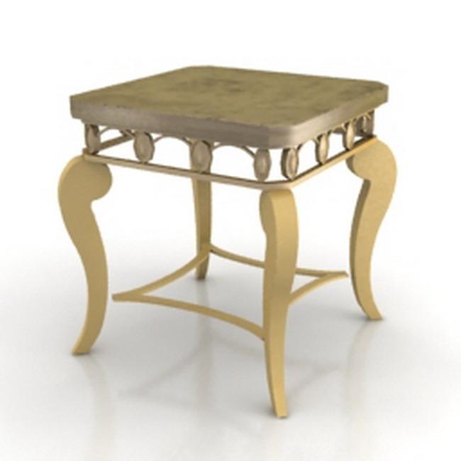 欧式家具凳子模型下载