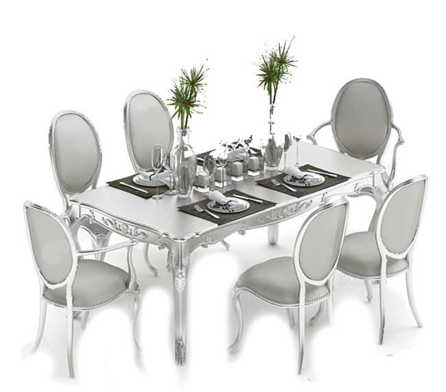欧式风格3d餐桌模型图片