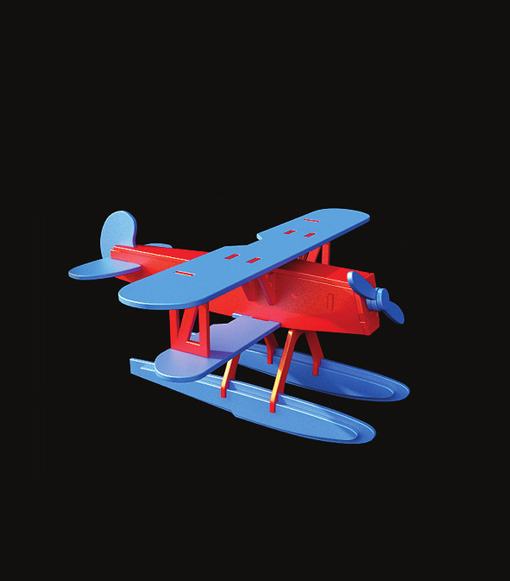 小飞机玩具3d模型