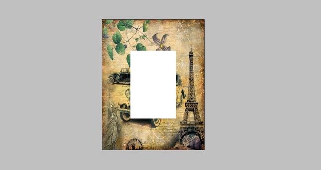 欧洲欧美镜面镜子复古怀旧装饰画设计图片