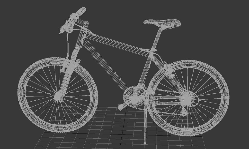 3dmax自行车
