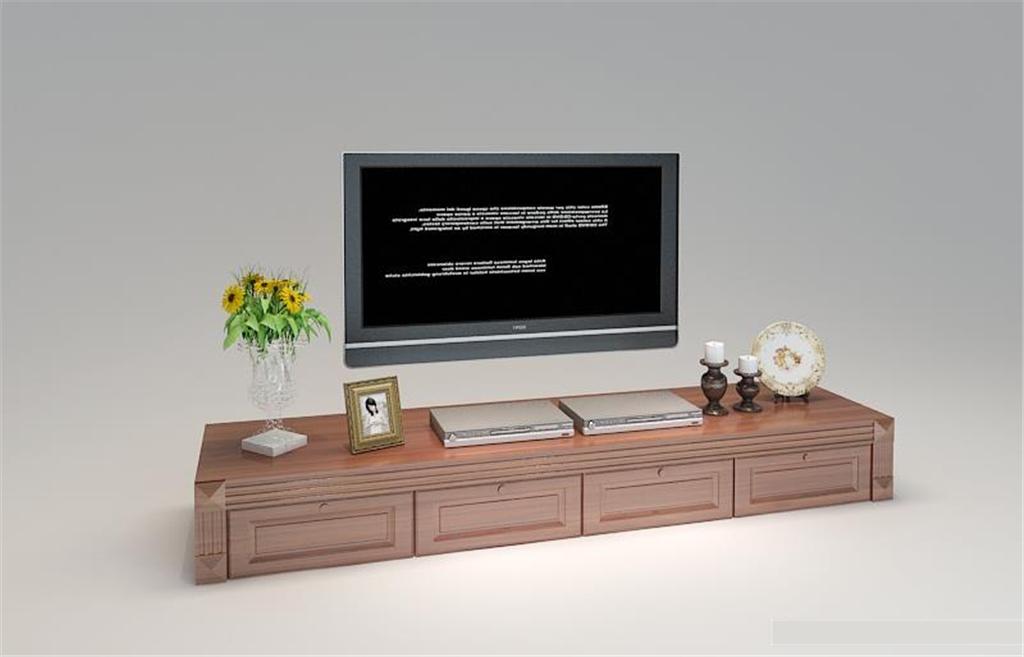 简欧电视柜3d模型模板下载(图片编号:12821167)