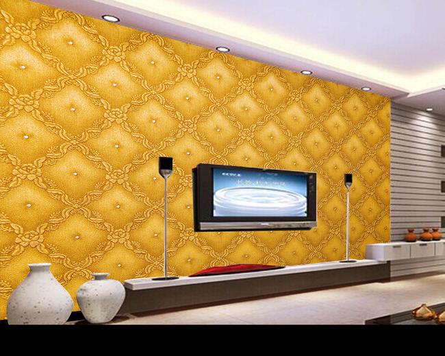 浮雕欧式花纹背景墙