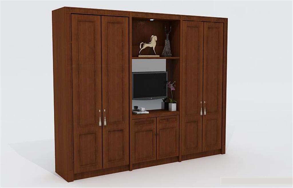 欧式古典衣柜3d模型