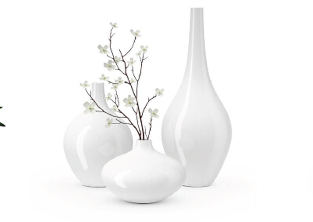 瓷器家庭室内装饰花瓶模型模板下载(图片编号:)