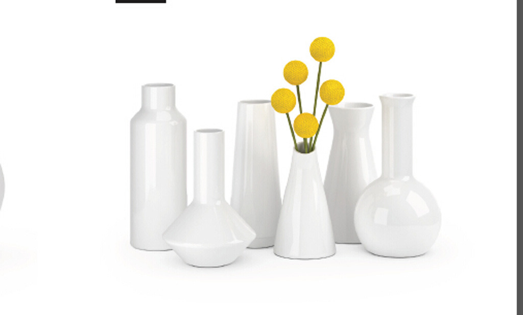 瓷器家庭室内装饰花瓶模型模板