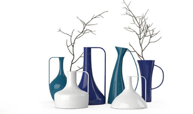 创意瓷器家庭室内装饰花瓶模型模板下载(图片编号:)