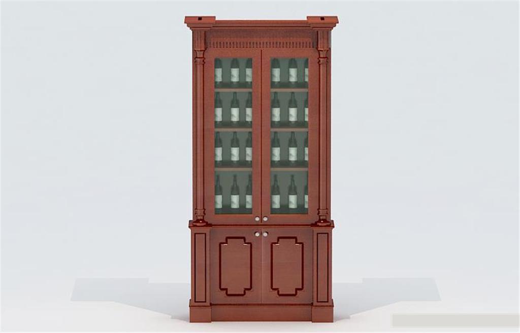 欧式小酒柜3d模型模板下载