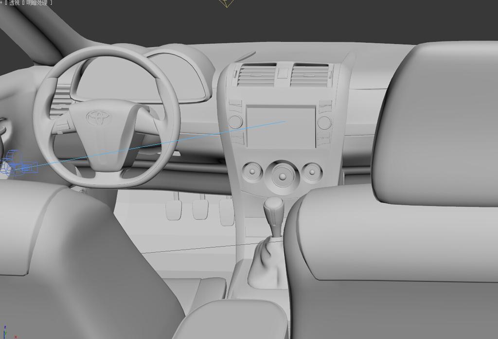 汽车室内模型卡罗拉汽车室内模型模板下载