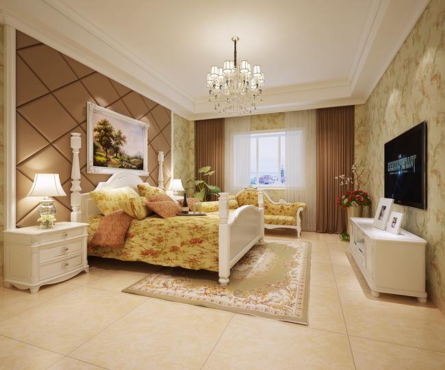 3d房间效果图欧式模型下载