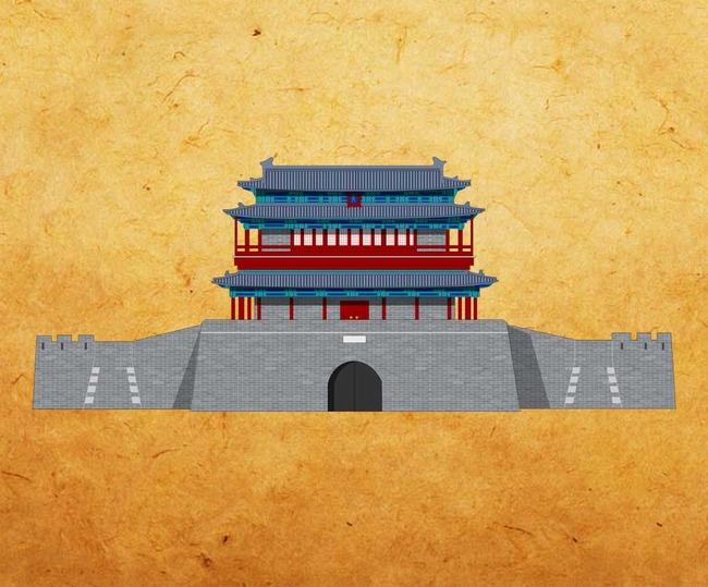 北京永定门手绘图