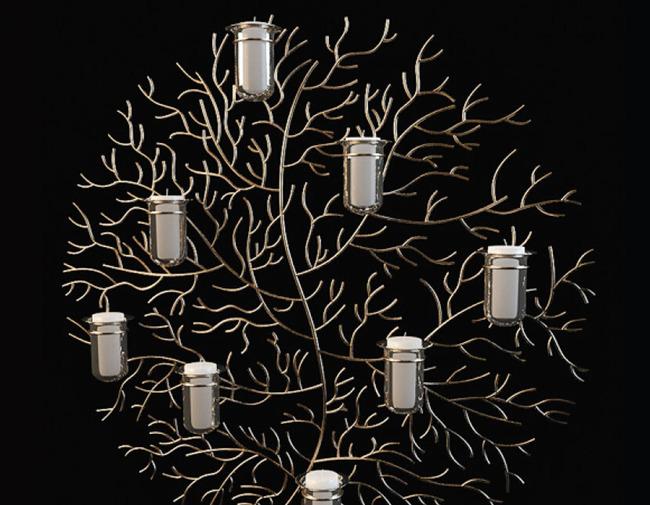 艺术树枝装烛台 装饰品模型