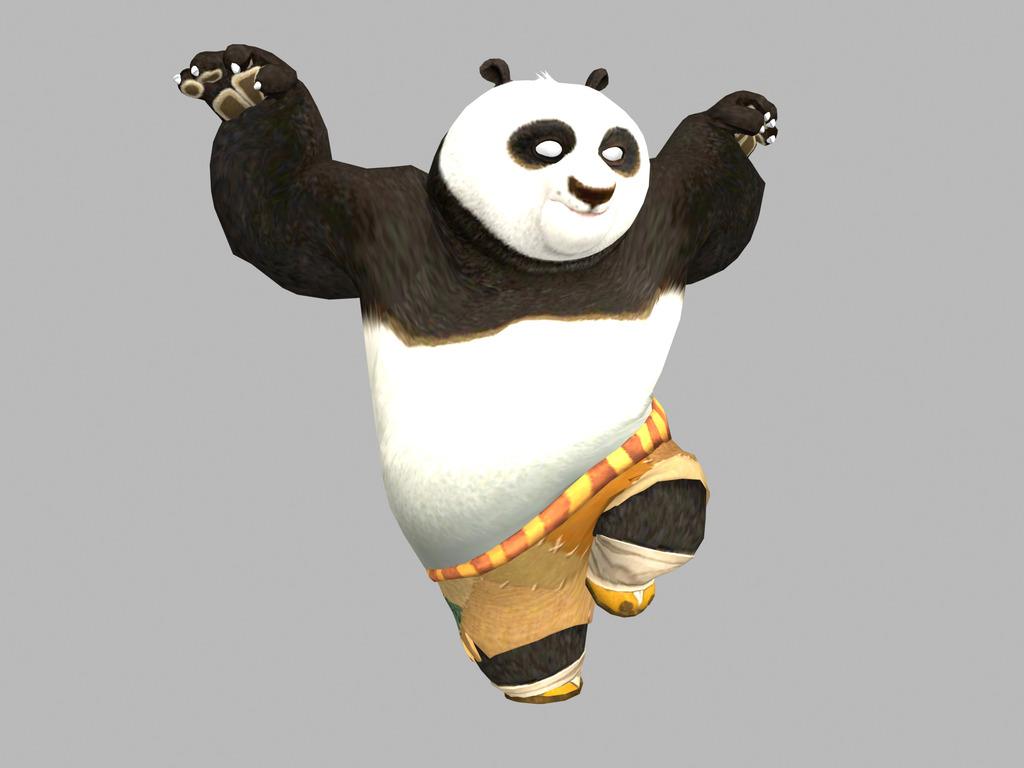 3d功夫熊猫模型功夫熊猫3d模型