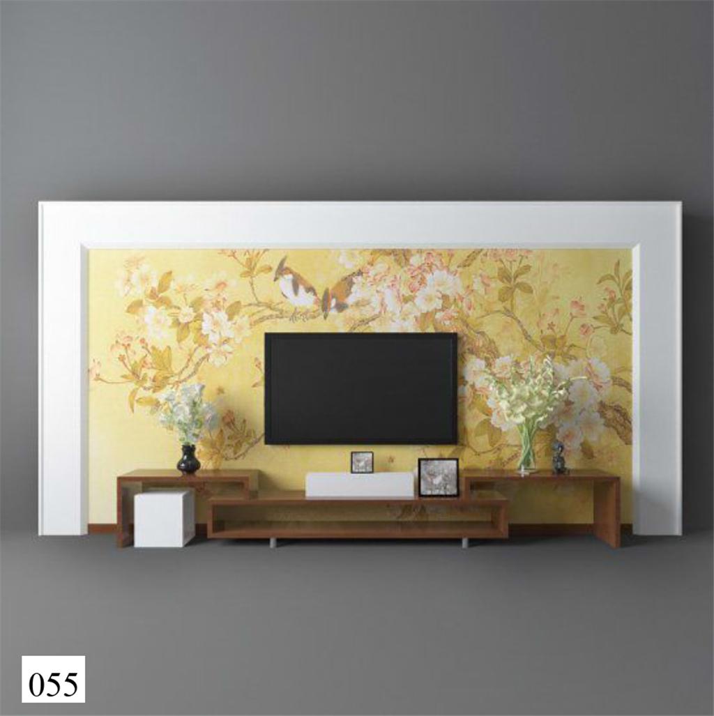 3d模型 室内设计3d模型 单体模型 > 新中式电视柜电视柜背景墙效果图图片