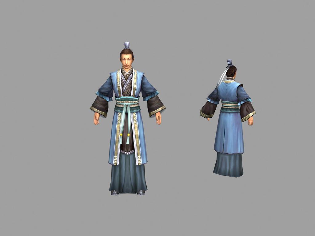 服装设计人体模型_3d人体模型服装模特3d模型古代人物模板下载