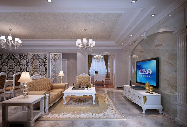 欧式电视背景墙餐厅设计地毯
