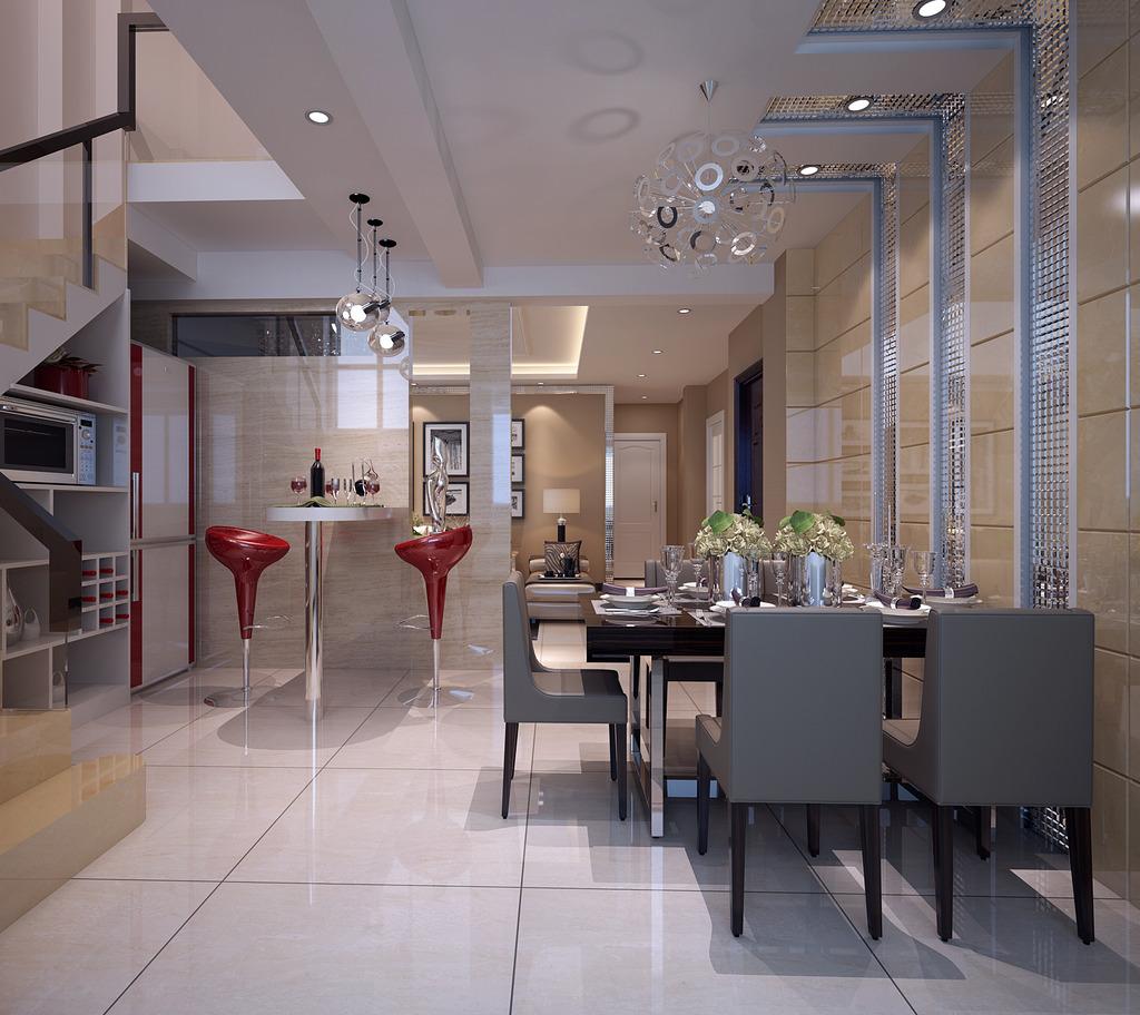 欧式风格客厅全套模型下载效果图下载