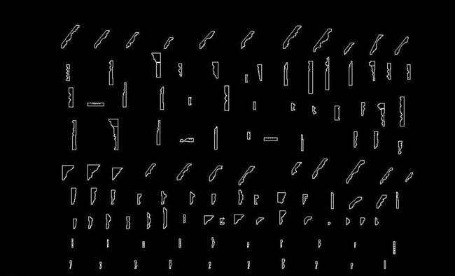 cad石膏线条模板下载(图片编号:12846300)