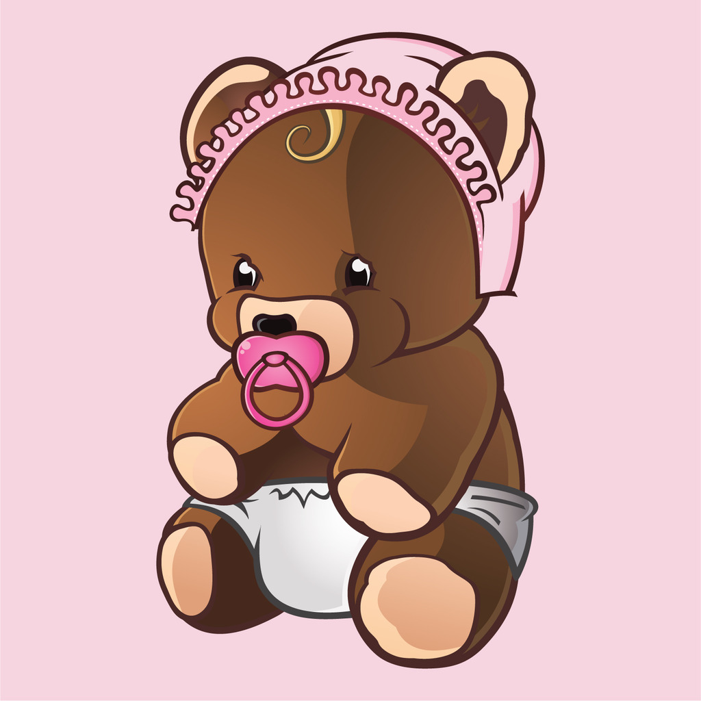 童装印花图案卡通熊宝宝图案印花图片