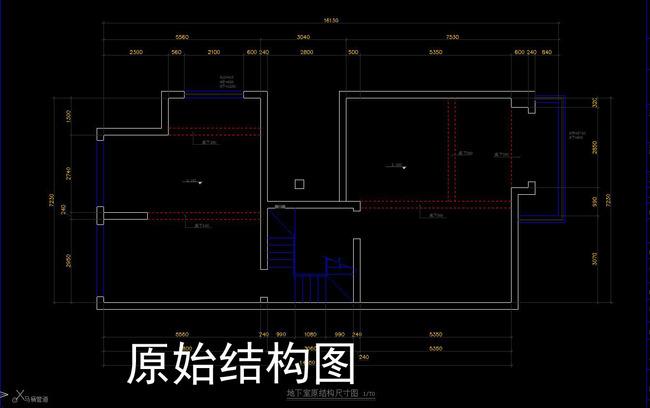 cad别墅施工图家装平面立面天花节点图