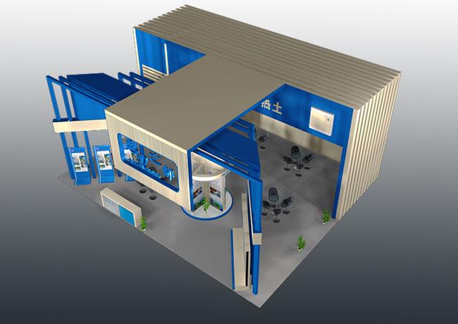 室内设计 整套3d模型 展台 展厅模型 > 城市展厅蓝印花布人才展设计3d