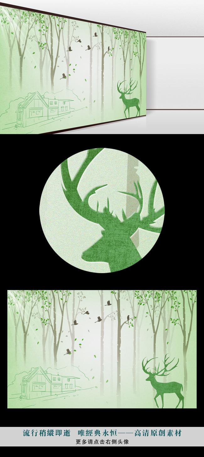森林 树枝 麋鹿