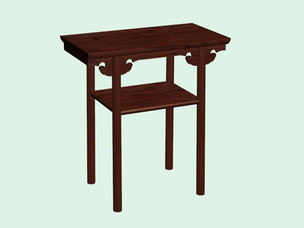 3d中式家具模型明清桌子伏案模型