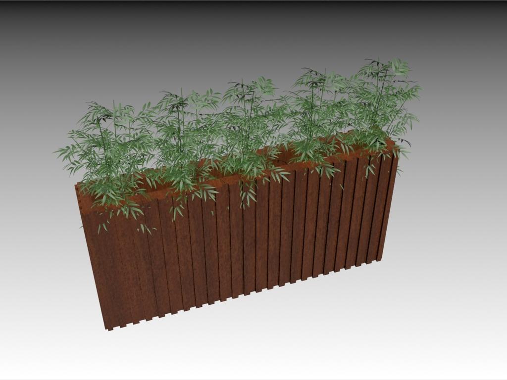 3d模型 室内设计3d模型 单体模型 > 木质花坛带植物竹子带贴图  下一
