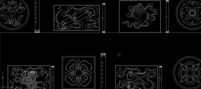 中式雕花 二龙戏珠 中式花纹中式窗花中式婚礼中式图案中式3d模型