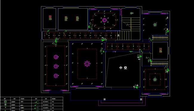 cad三层别墅施工图纸平面立面剖面节点