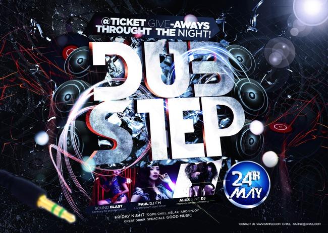 酒吧夜店时尚dj海报设计模板下载 酒吧夜店时尚dj海报设计图片下载 酒