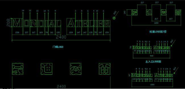 cad服装店全套施工图立面剖面节点平面图