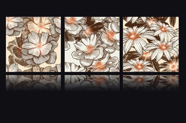木棉花树风景手绘画展示