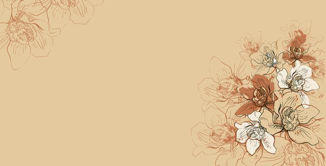 手绘花卉背景墙下载高清图片下载(图片编号12883662)